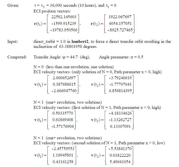 Der_Lambert_Problem_Examples